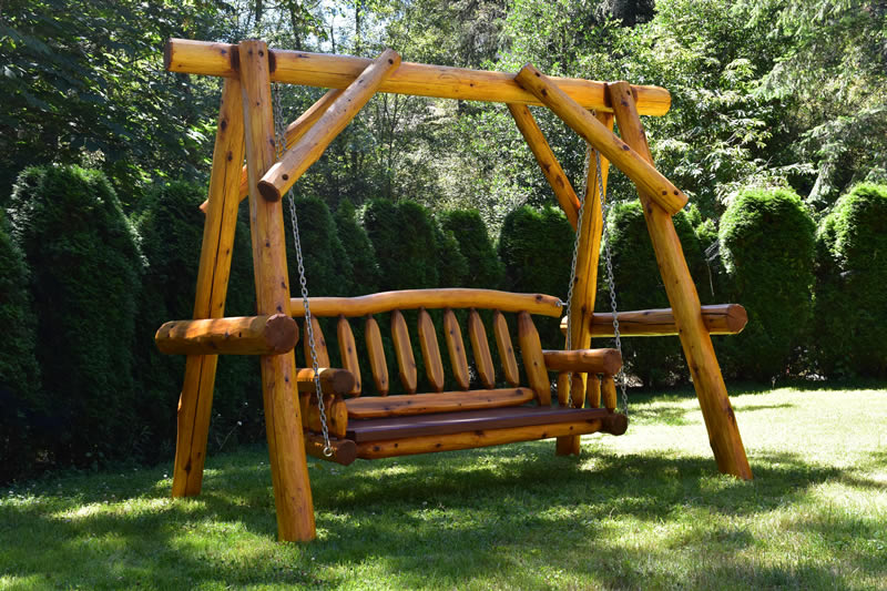 Rustic Cedar Porch Swing Marisa Enterprises